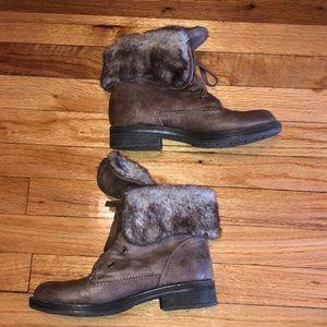 Brown old navy booties